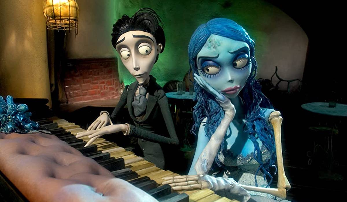 Johnny Depp and Helena Bonham Carter as Victor and Corpse Bride