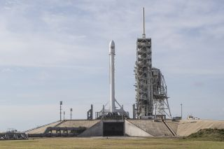 SpaceX Falcon 9 and EchoStar 23 on the Pad