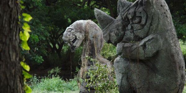 Jumanji Welcome to the Jungle Statues