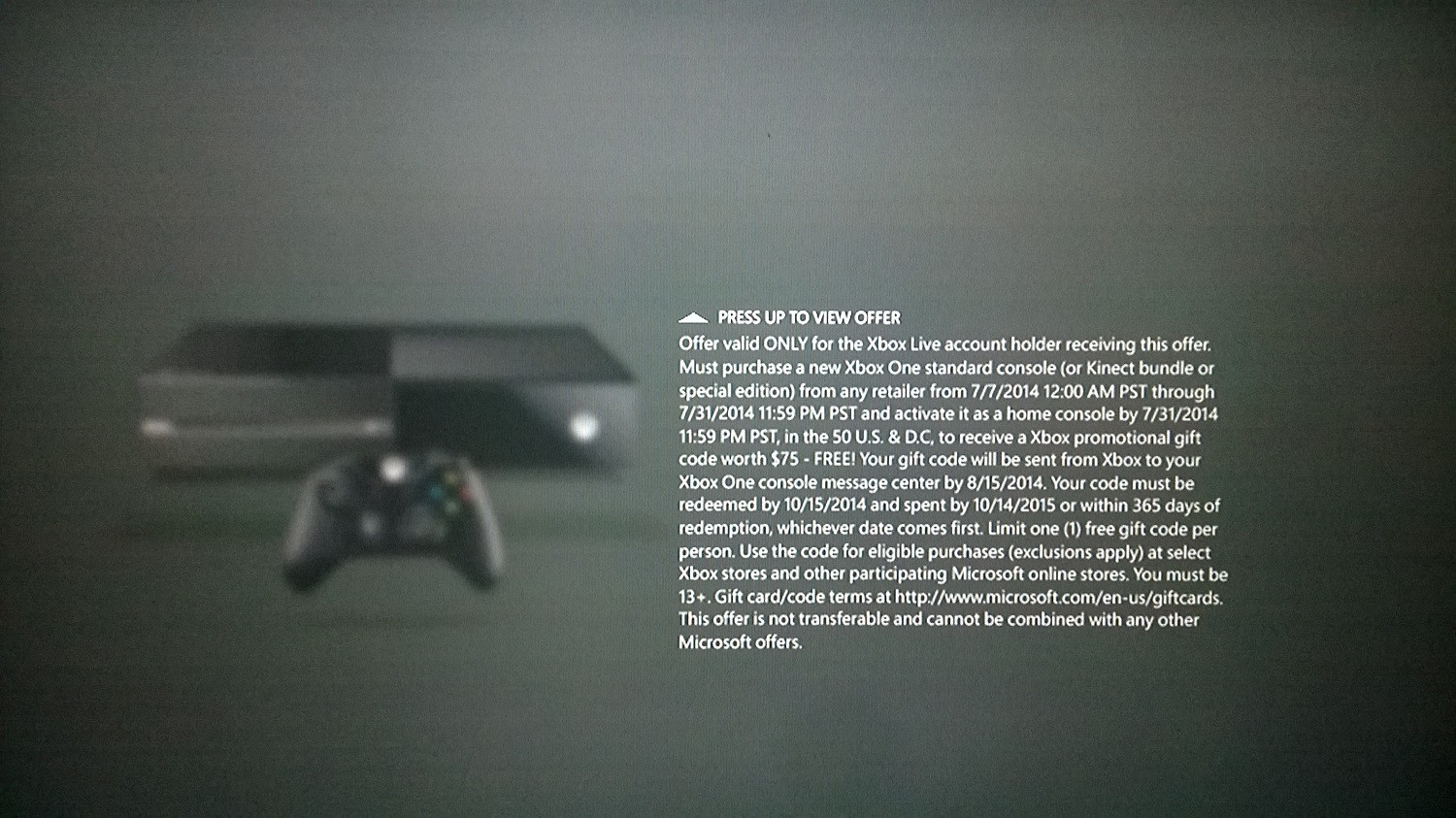 Buy An Xbox One, Get $75 From Microsoft #31630