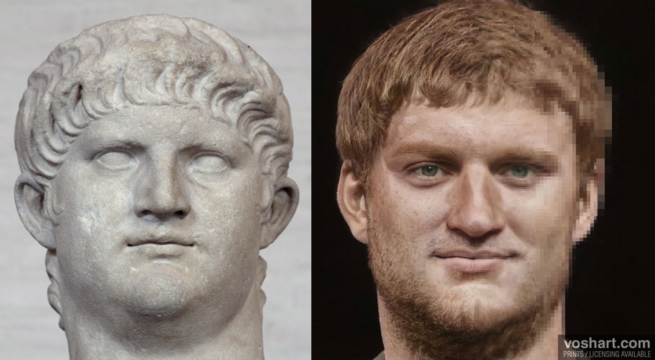 Nero became emperor at the age of 17 after the death of his adopted father, the Emperor Claudius, in A.D. 54.
