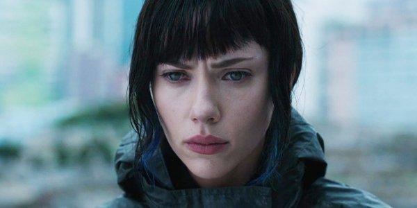 Scarlett Johansson looks upset Ghost in the Shell
