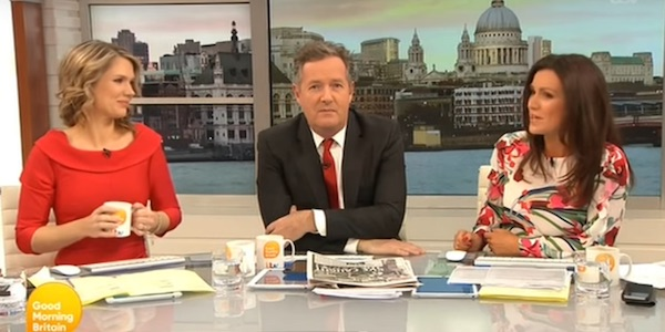 Piers Morgan on Good Morning Britain 2017