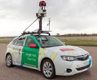 Google streetview car, methane