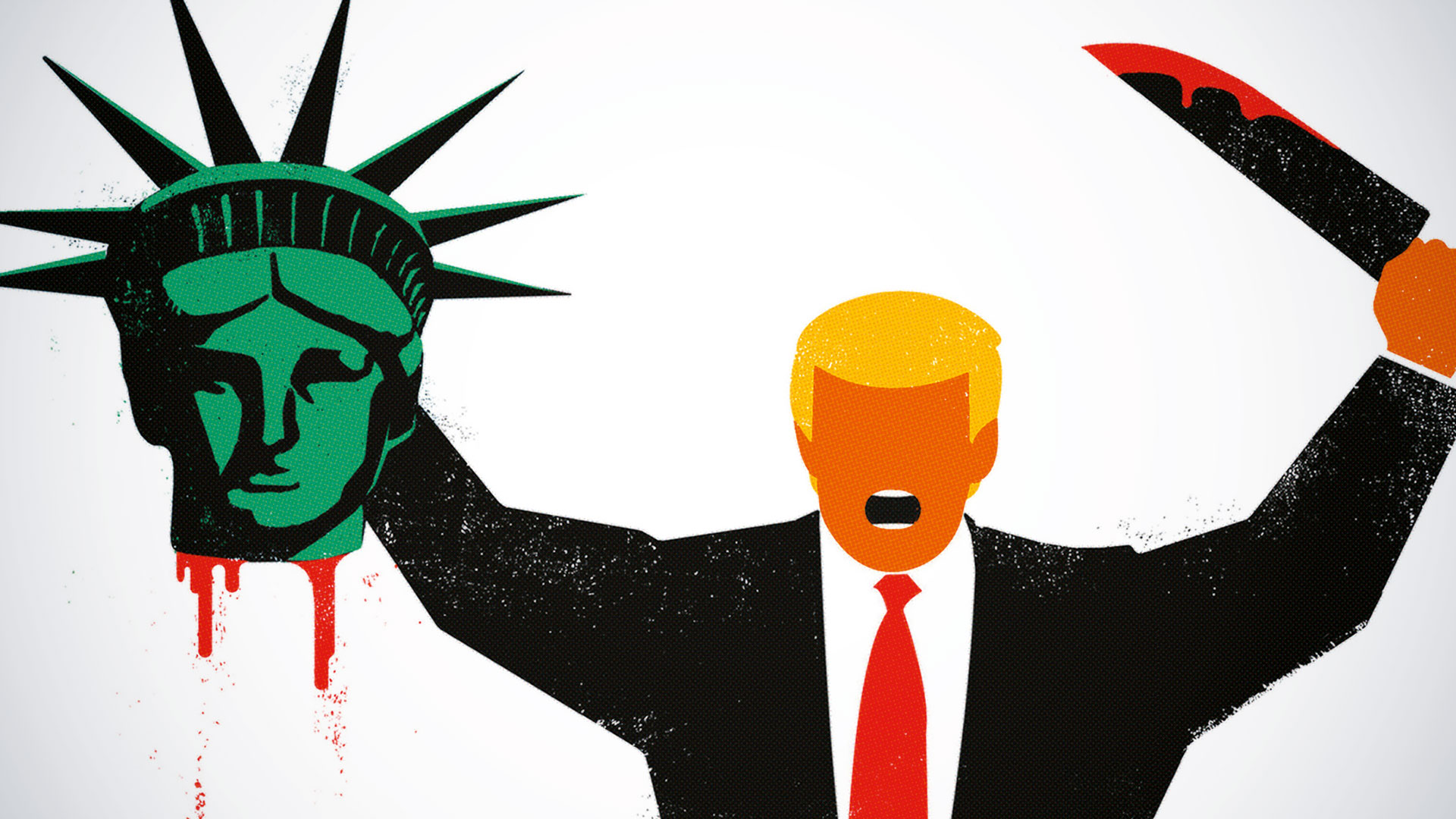 How one illustrator took aim at Trump – and went viral