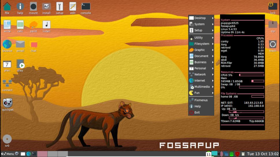 screenshot of Puppy Linux desktop