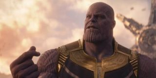 Thanos snapping his finger