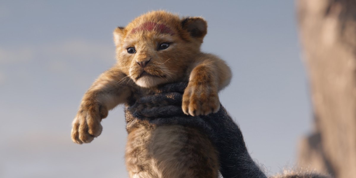 simba being held high on Pride Rock in The Lion King