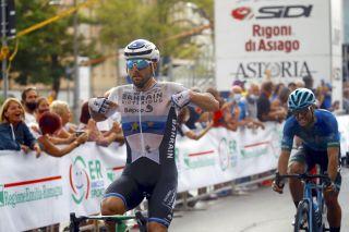 Italian Sonny Colbrelli (Bahrain Victorious) won the 2021 Memorial Marco Pantani