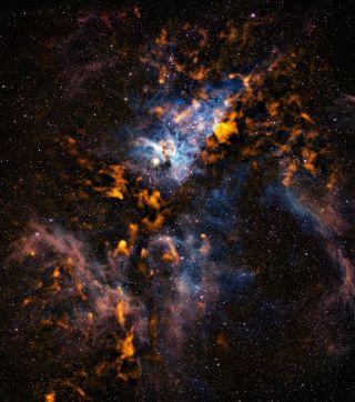 carina nebula clouds star formation