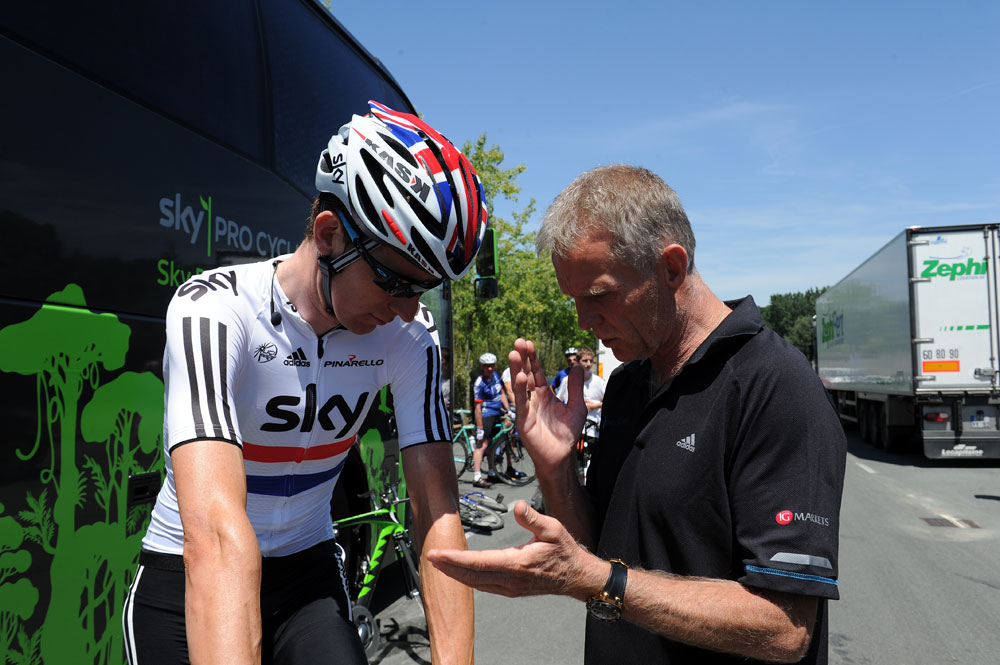 Bradley Wiggins and Shane Sutton, Tour de France 2011, team time trial training