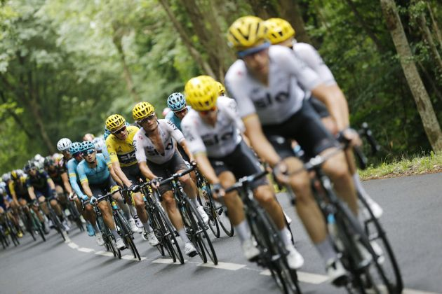 Thumbnail Credit (cyclingweekly.com) (Photo: Yuzuru Sunada): Team Sky lead the peloton on stage 12 of the 2017 Tour de France (Sunada)
