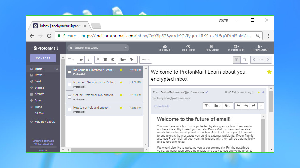 Best email providers: Proton