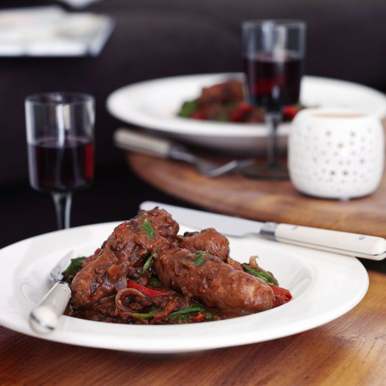 Red Wine Lentil Sausages photo Madhouse Cookbook by Jo Pratt