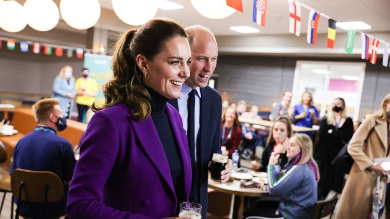 Kate Middleton, Duchess of Cambridge and Prince William, Duke of Cambridge during a tour of the Ulster University Magee Campus on September 29, 2021 in Derry/Londonderry, Northern Ireland.