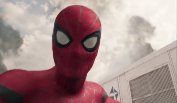 Spider-Man shooting video during Captain America Civil War Spider-Man Homecoming