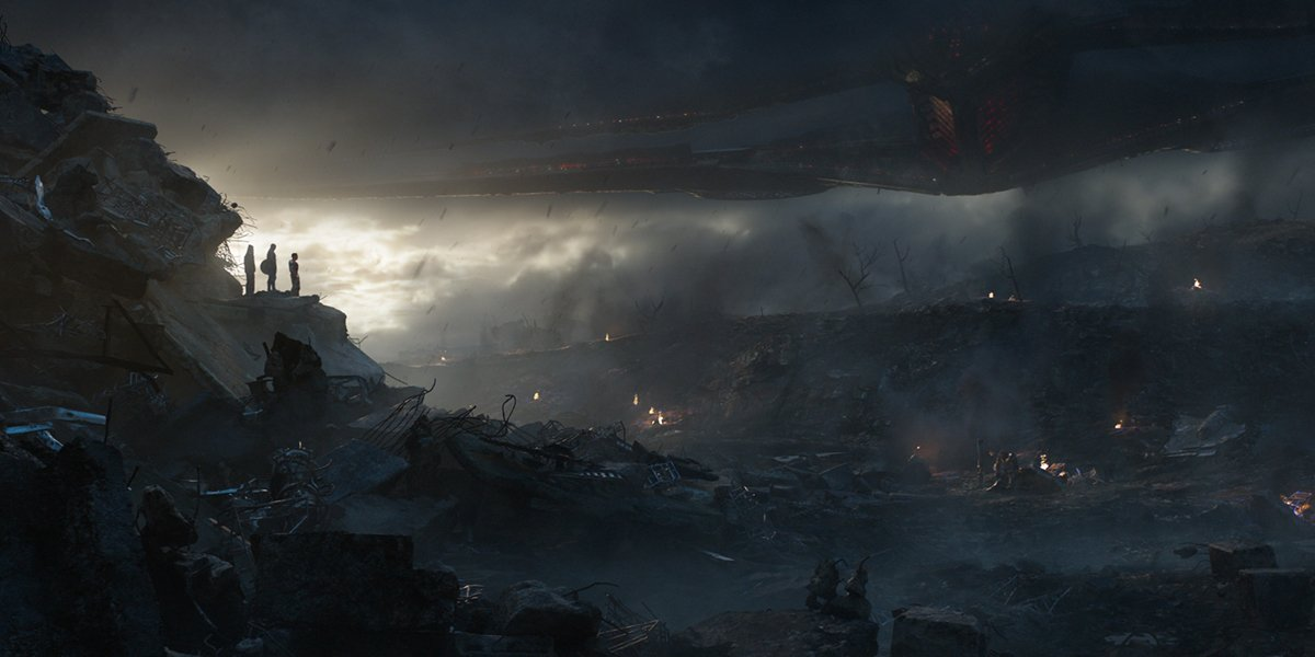 heroes on a hill in Avengers Endgame