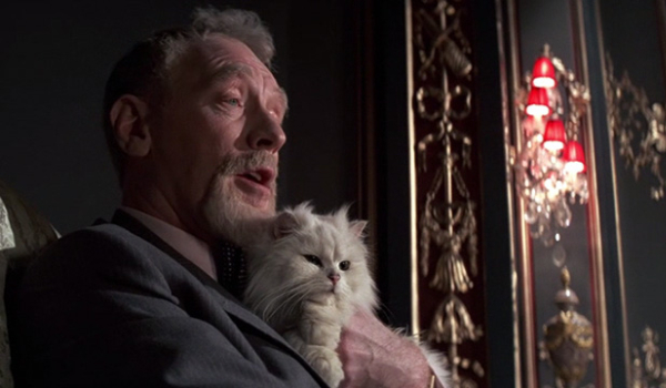 Never Say Never Again Blofeld holds his cat close as he monologues