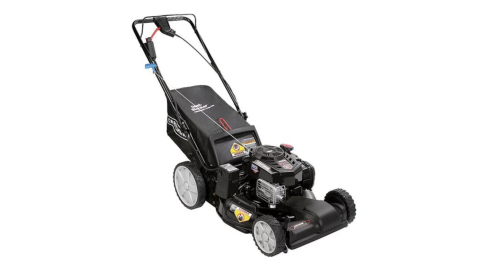 A black Craftsman 37744 lawnmower