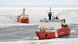 USCG Healy and the Canadian Coast Guard Ship Louis S. St-Laurent