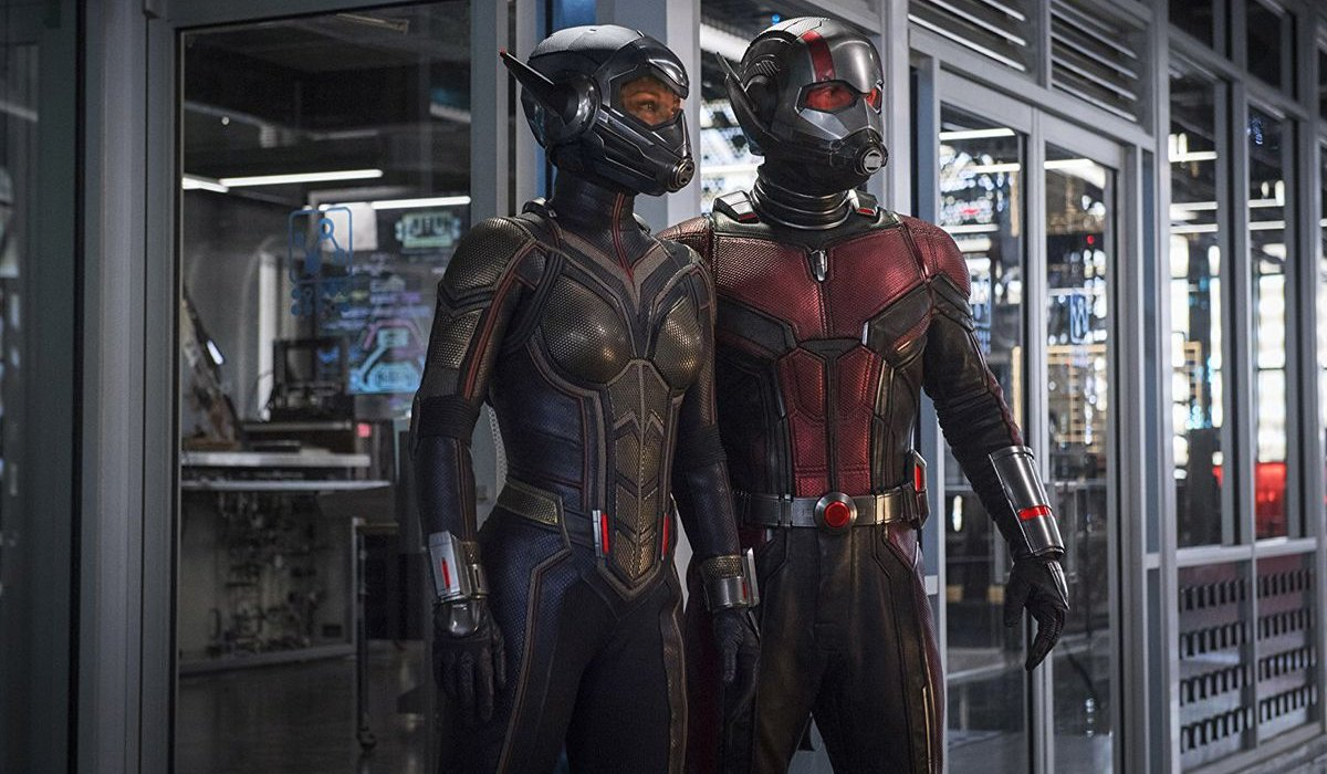 Ant-Man and The Wasp suited in the lab, ready for action