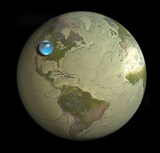 All of the world's water in a single giant drop.