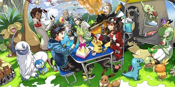 Pokemon Go Fest promotional picnic art