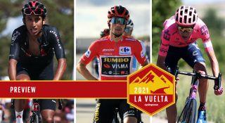Vuelta a Espana contenders Primoz Roglic, Egan Bernal, Hugh Carthy