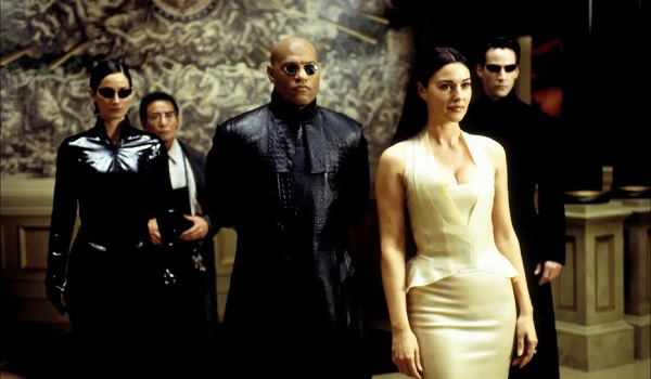 The Matrix Reloaded Morpheus Neo Trinity Persephone Lobby