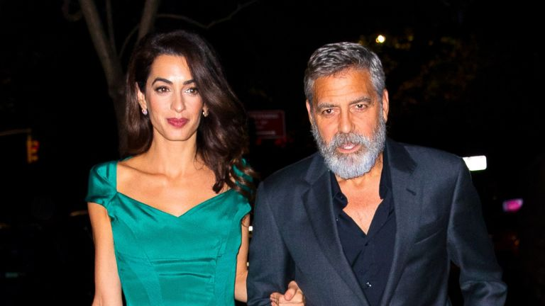 George Clooney reveals wife Amal, Amal Clooney and George Clooney seen on October 01, 2019 in New York City