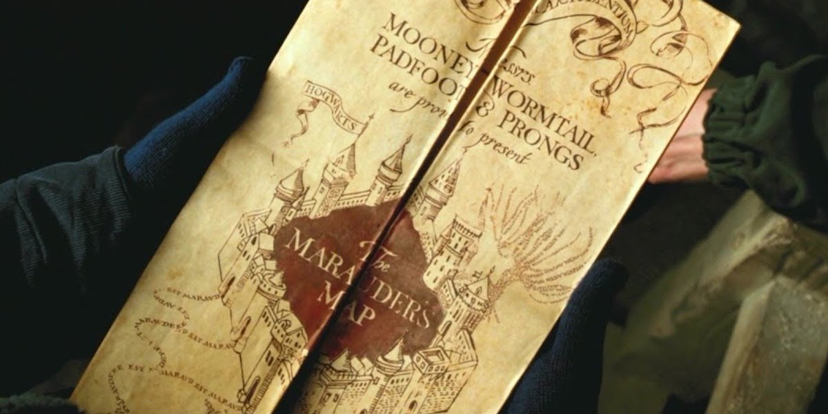 Marauders Map in the Harry Potter movie