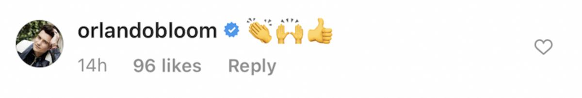 jeremy renner orlando bloom emoji comment screenshot