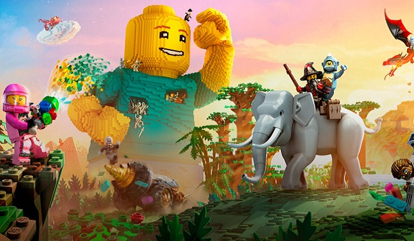 A Lego Worlds landscape