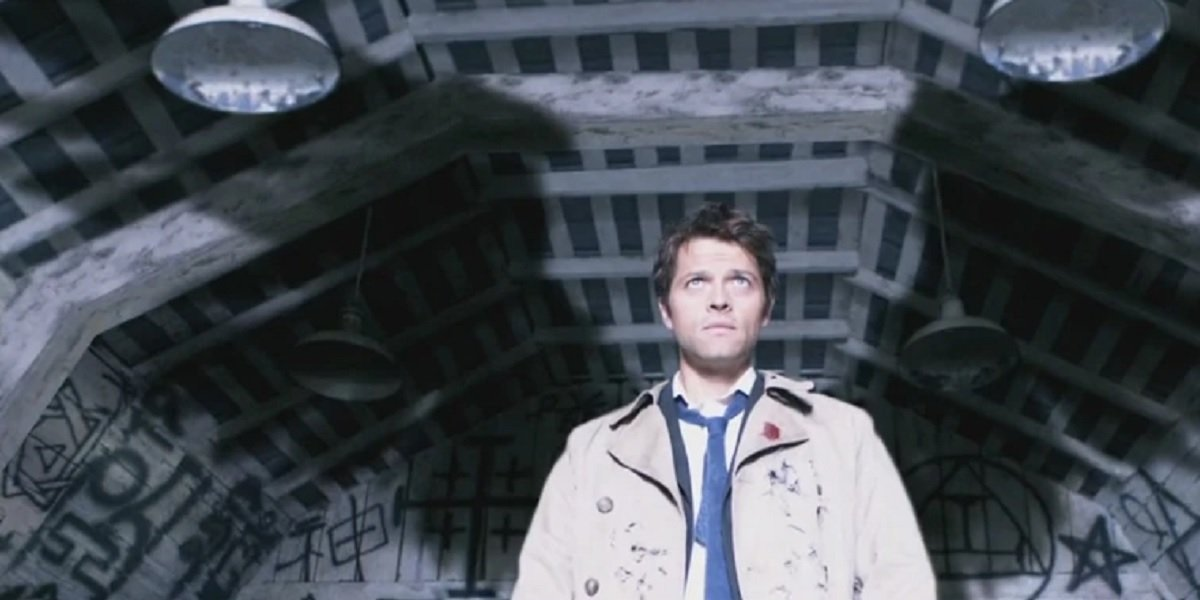 Misha Collins as Angel Castiel in Supernatural