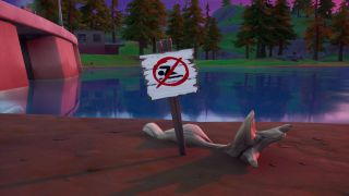 Fortnite No Swimming Signs