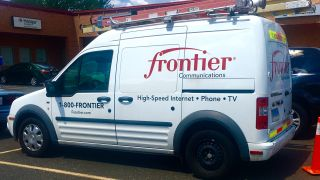 A Frontier Communications cable truck