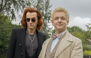 David Tennant and Michael Sheen as Crowley and Aziraphale in Good Omens