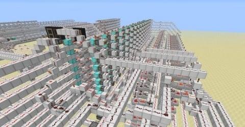 Minecraft Gamers Make A Working 8 Bit Computer Inside