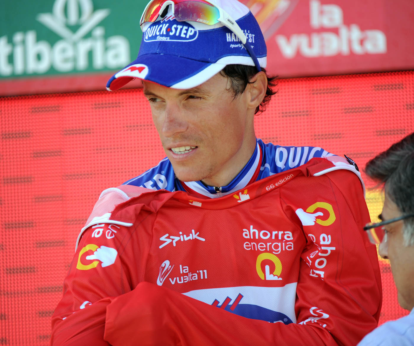 Sylvain Chavanel on the podium, Vuelta a Espana 2011, stage six