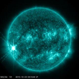 Solar Flare Oct 22 2012