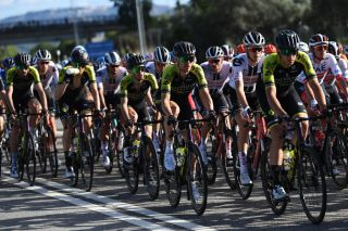 MATERA ITALY OCTOBER 08 Simon Yates of The United Kingdom and Team Mitchelton Scott Michael Hepburn of Australia and Team Mitchelton Scott Edoardo Affini of Italy and Team Mitchelton Scott during the 103rd Giro dItalia 2020 Stage 6 a 188km stage from Castrovillari to Matera 401m girodiitalia Giro on October 08 2020 in Matera Italy Photo by Tim de WaeleGetty Images