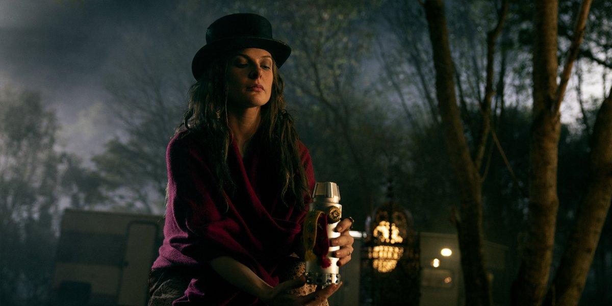 Rebecca Ferguson as Rose The Hat taking steam in Doctor Sleep