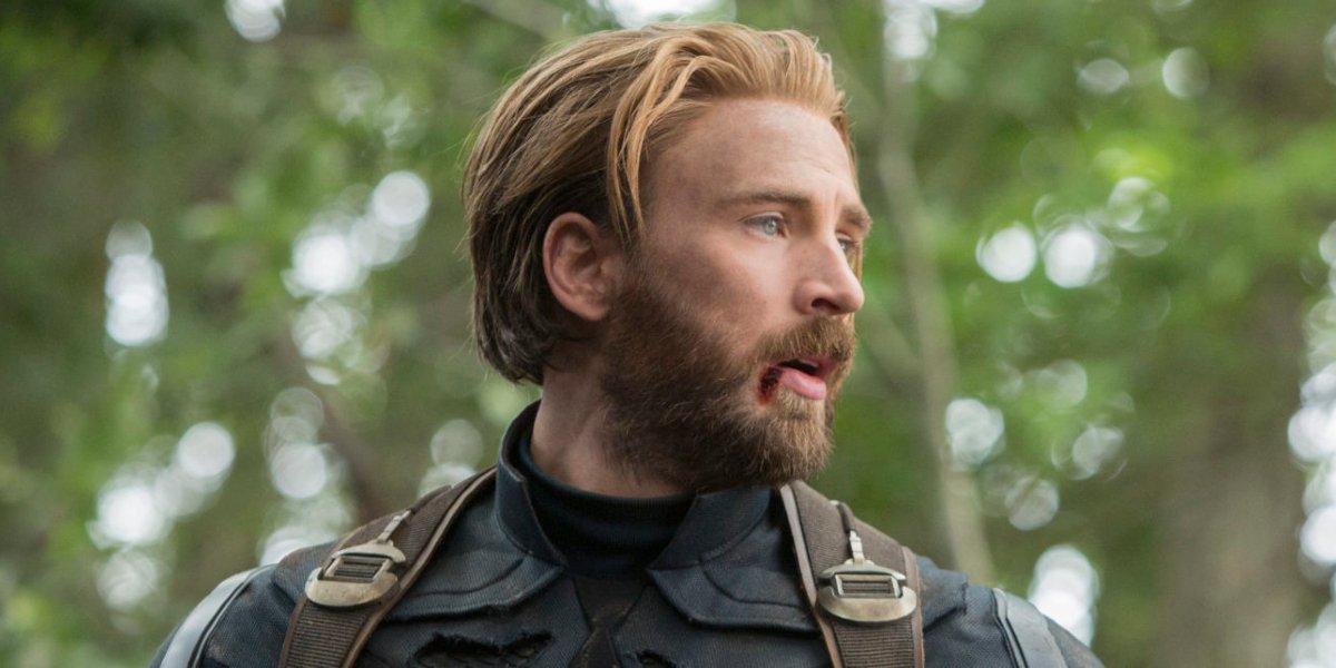 chris evans captain america beard avengers infinity war