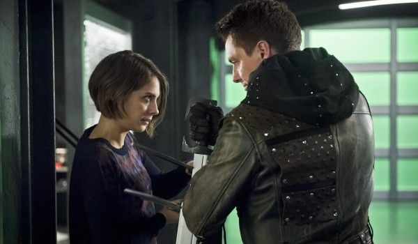 thea and malcolm fighting on arrow