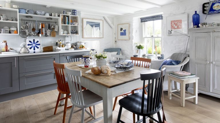 bright colorful cottage kitchen