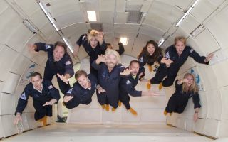 Richard Branson's Microgravity Training Flight (1)