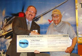 Tuskegee Airman Le Roy Gillead was awarded a free trip to suborbital space