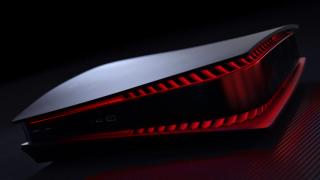 Concepto de PS5 roja y negra