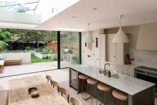 Planning a kitchen was an important part of this extension project