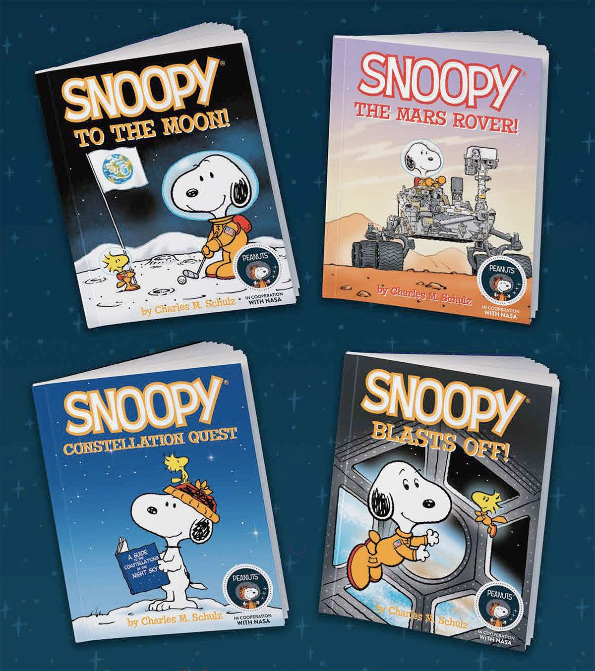 """SNOOPY PEANUTS NASA SPACE PATCH IN PARTNERSHIP WITH NASA 3.5"""" MOON CAMPAIGN"""